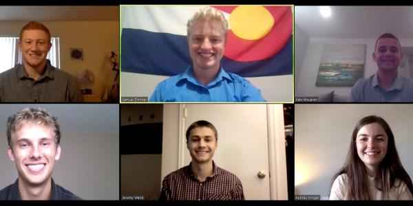 A Zoom meeting screenshot of the Out of Control Systems team
