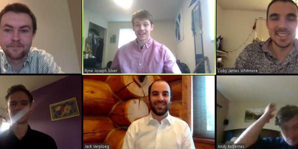 A Zoom meeting screenshot of the RAin GEnius team