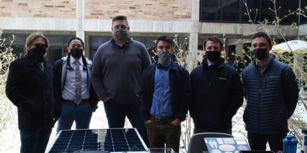 The Solar Flex team at the ECEE senior design project expo