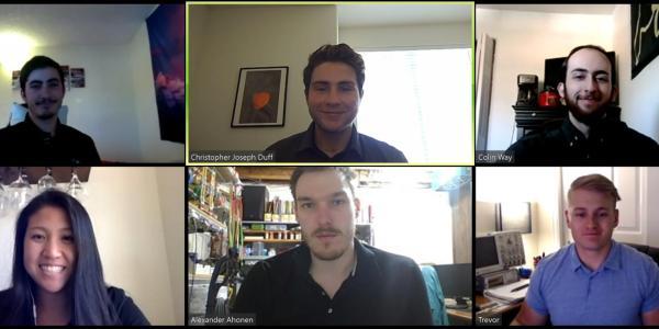 A Zoom meeting screenshot of the TGI Faraday team