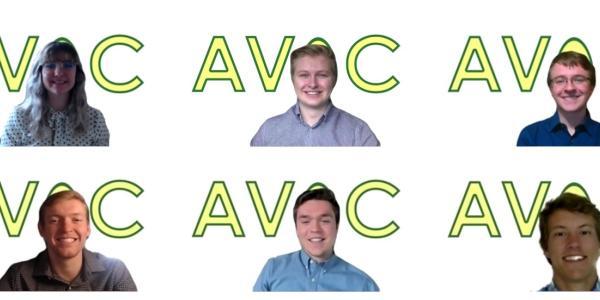 A Zoom meeting screenshot of the Avoc team