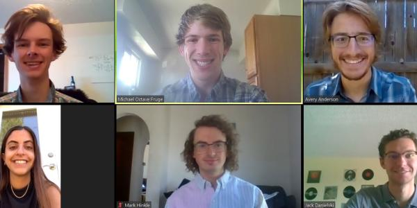 A Zoom meeting screenshot of the Waveguide Wizards team