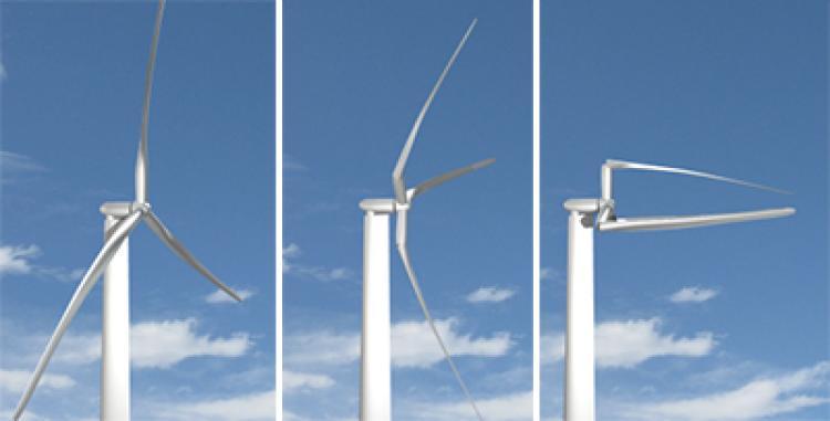 Illustration of morphing turbine
