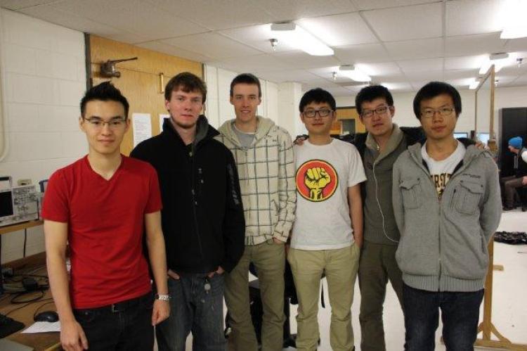 The six members of Team PolarCube