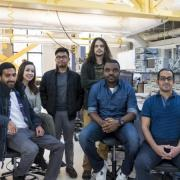 The six CU Boulder electrical and computer engineering students who make up the Volt Vision team