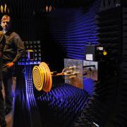 Dejan Filipovic and team in their antenna chamber