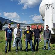 Students with PolarCube ground station