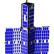 Rendering of nanosatellite