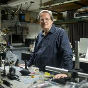 Alan Mickelson in his lab