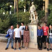 Popovic and her students at the Spanish URSI conference in Granada.
