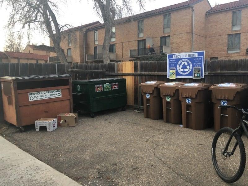 graduate housing composting bins