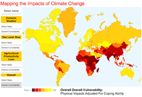 Climate Impacts map