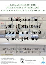 thank you for using fume hoods efficiently!