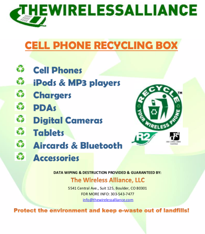 The Wireless Alliance acceptable items for recycling list
