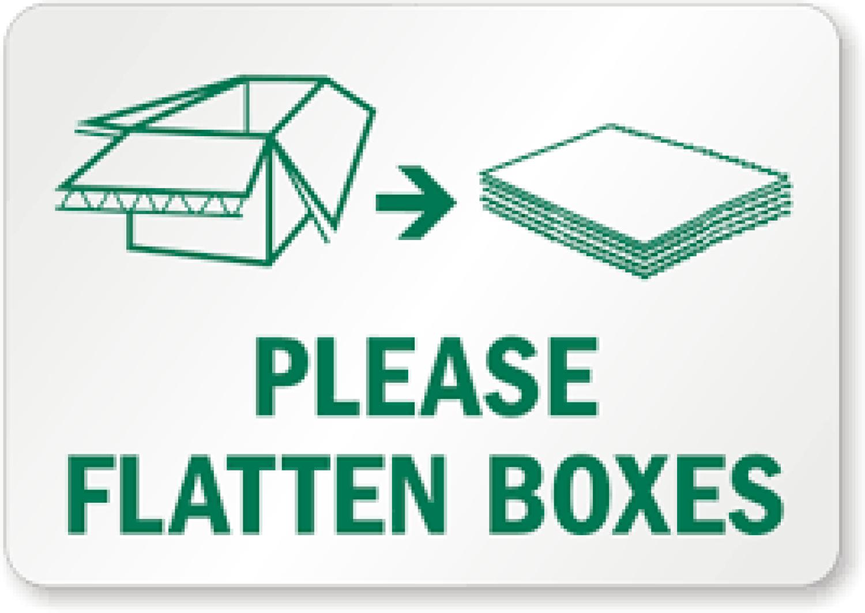 Flatten cardboard sign