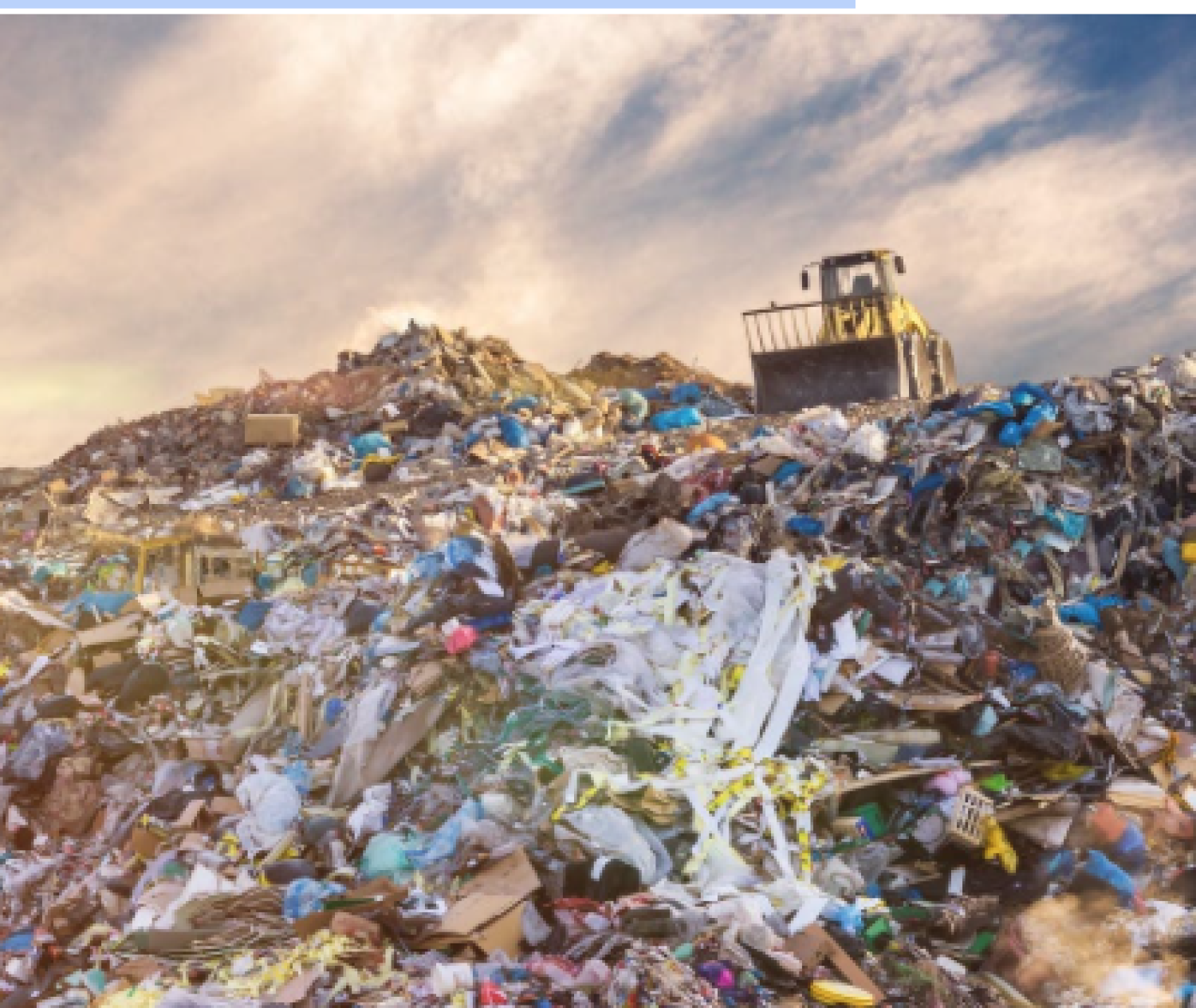 Landfill with tractor