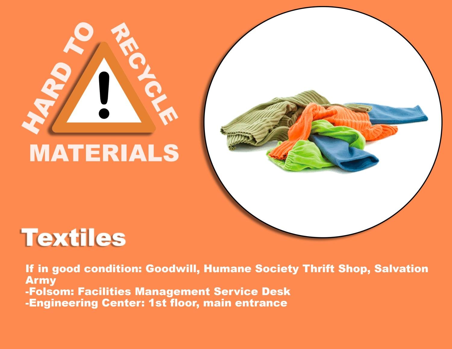 Hard to Recycle Items | Environmental Center | University of