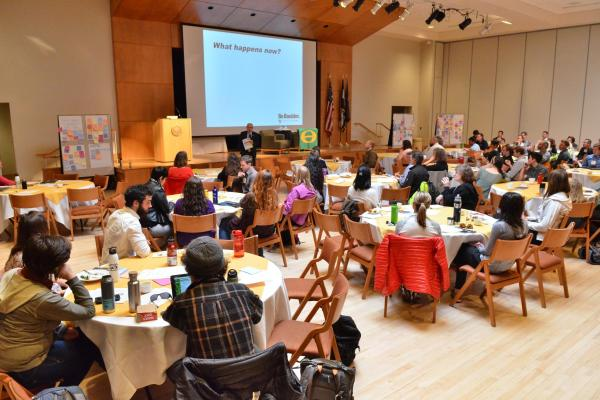 attendees of campus sustainability summit