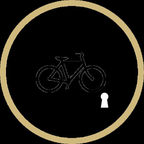 locking bike shelter logo