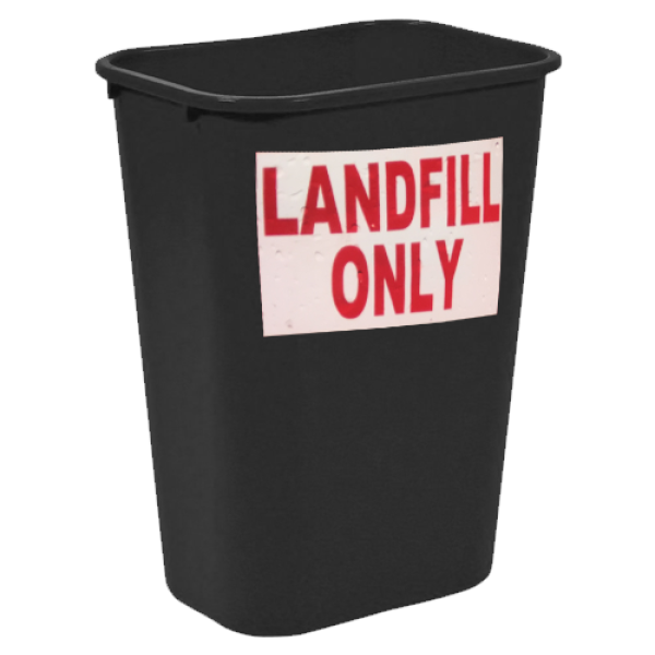 black trashbin