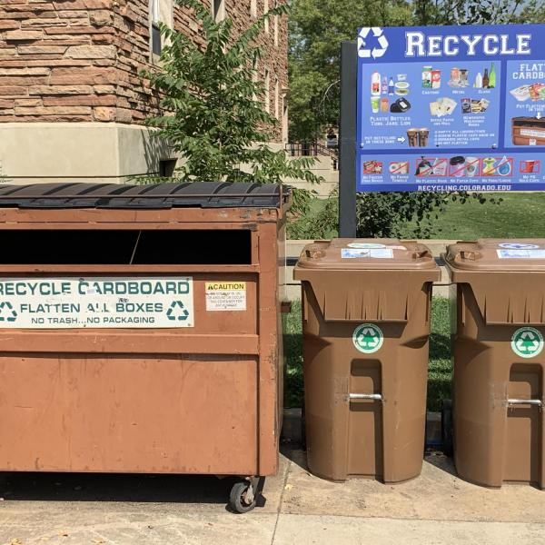 outdoor dumpster and polycarts