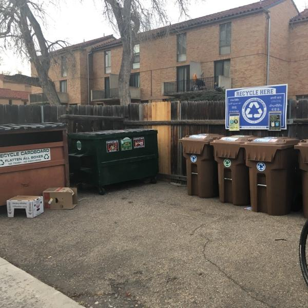 curbside and dumpster