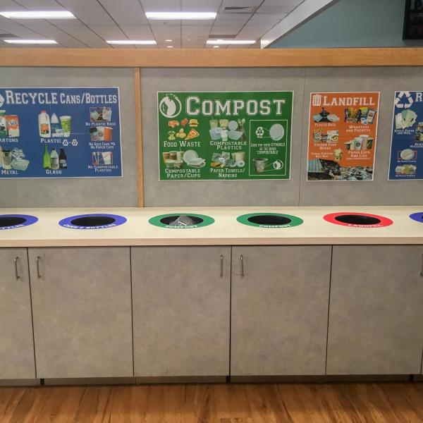 zero waste cabinets in the UMC dining area