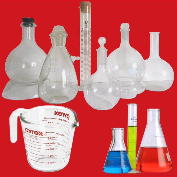 lab glass and pyrex