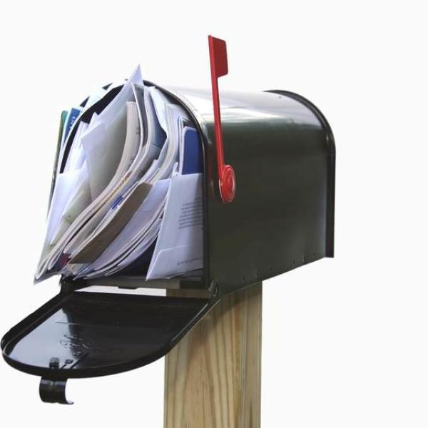 mailbox with junk mail