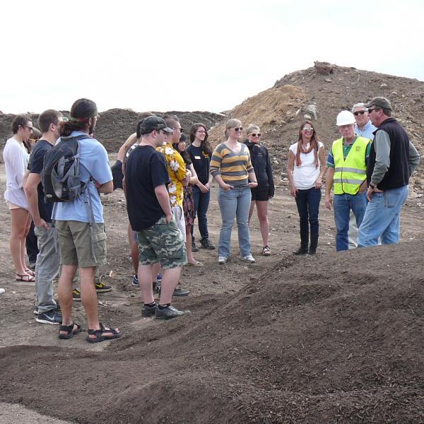 Tour of A1 Organics composting facility