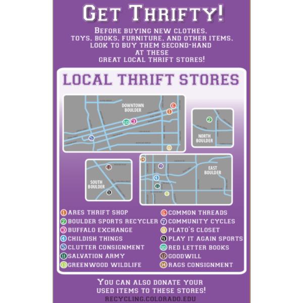 """""""get Thrifty"""" info sheet"""