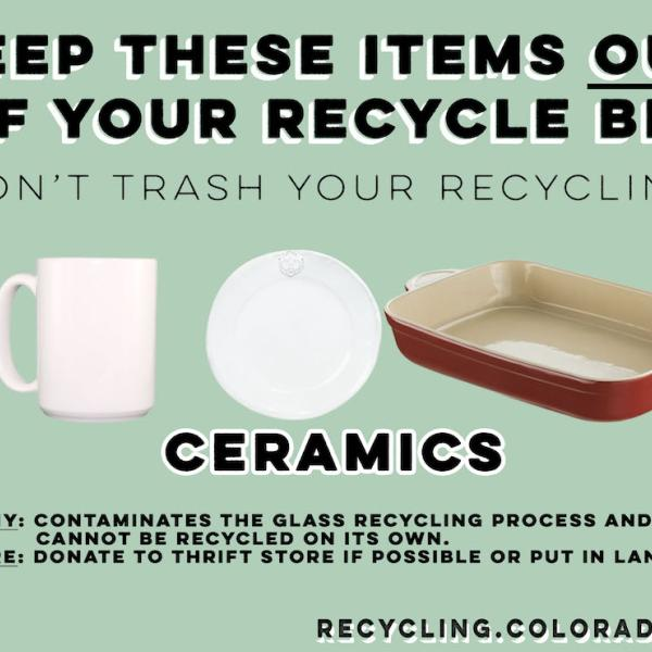 Ceramics are not recyclable.