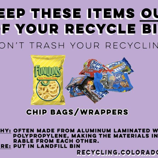 Potato chip bags are not recyclable.