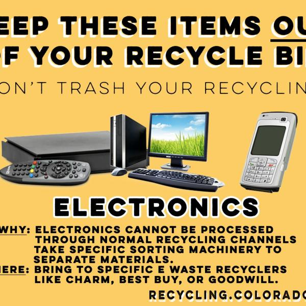 Electronics do not go in your normal recycling bin.
