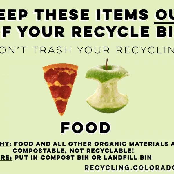 Food is not recyclable... it is compostable.