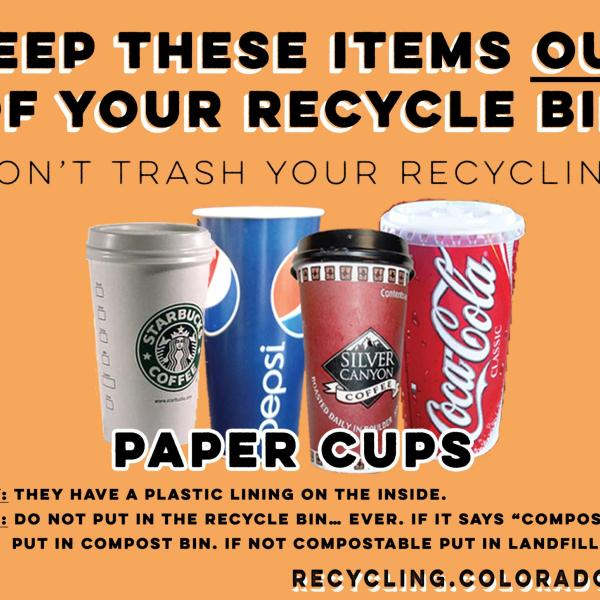 Paper Cups are not recyclable.
