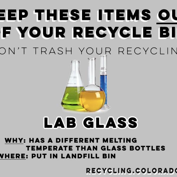 Laboratory glass is not recyclable.