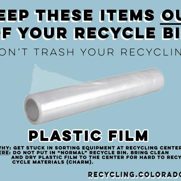 Plastic film cannot be recycled.