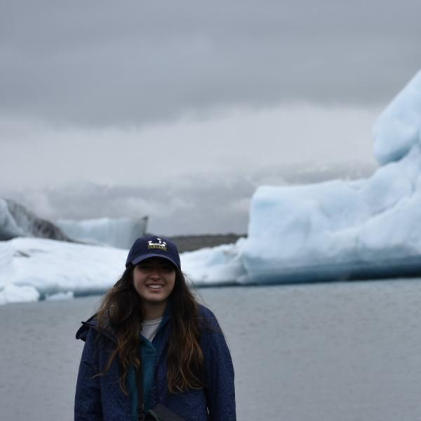 Photo of Mariah Wagner on a glacier