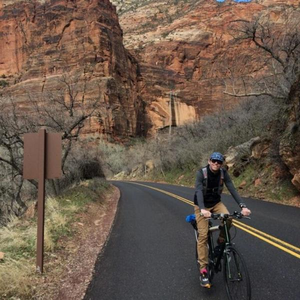Sam Forsyth biking