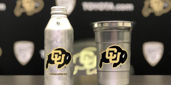 aluminum CU Buff cup and bottle