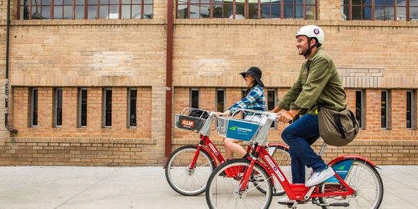 b-cycle riders on campus