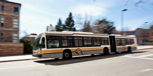 a buff bus in motion