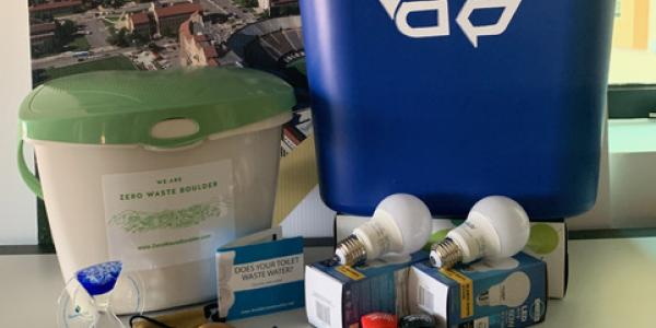 Recycle bin, compost bin and other ecokit materials