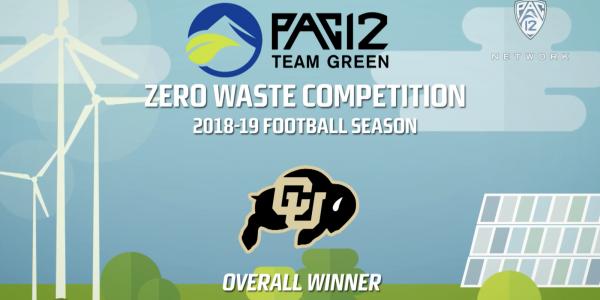 pac-12 zero waste challenge - overall winner - CU Boulder