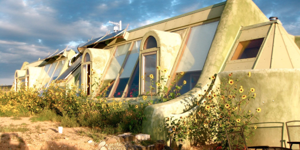 Earth ship from the outside