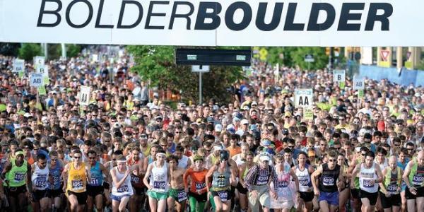 Runners at the Bolder Boulder