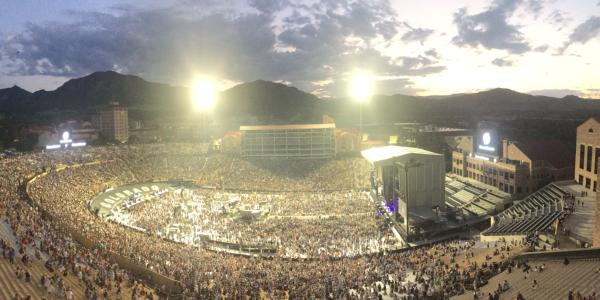 Panorama of concert