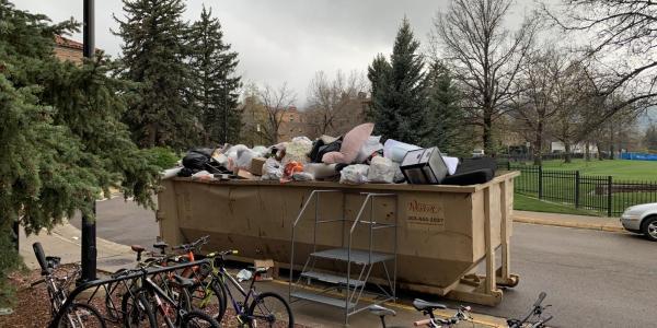 A full dumpster