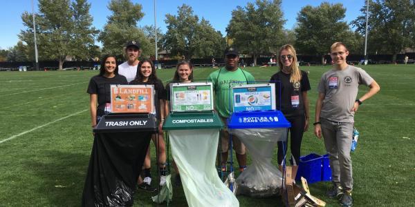 recycling in arizona football game